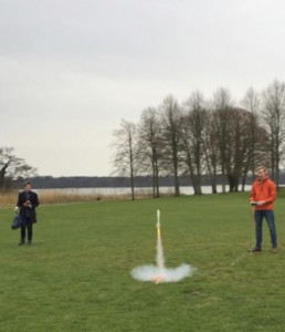 Rocket launch after calculations and production own individual rocket